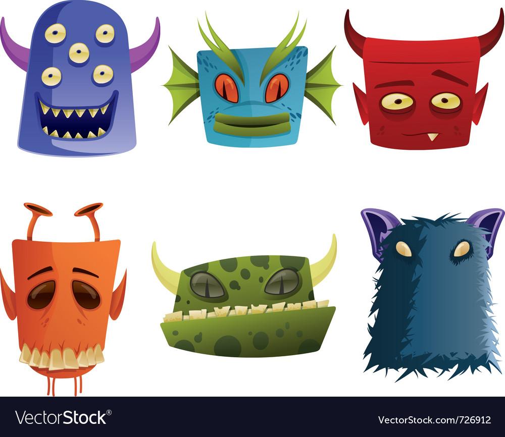 Monster head cartoon web icon