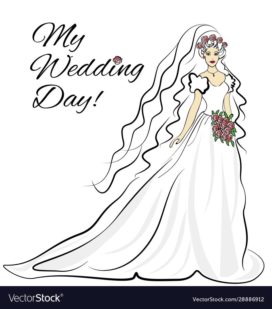 Wedding bride inavitation card