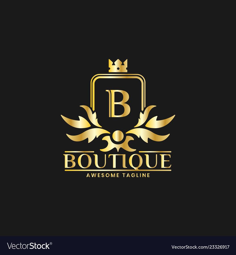Boutique luxury logo design template inspiration