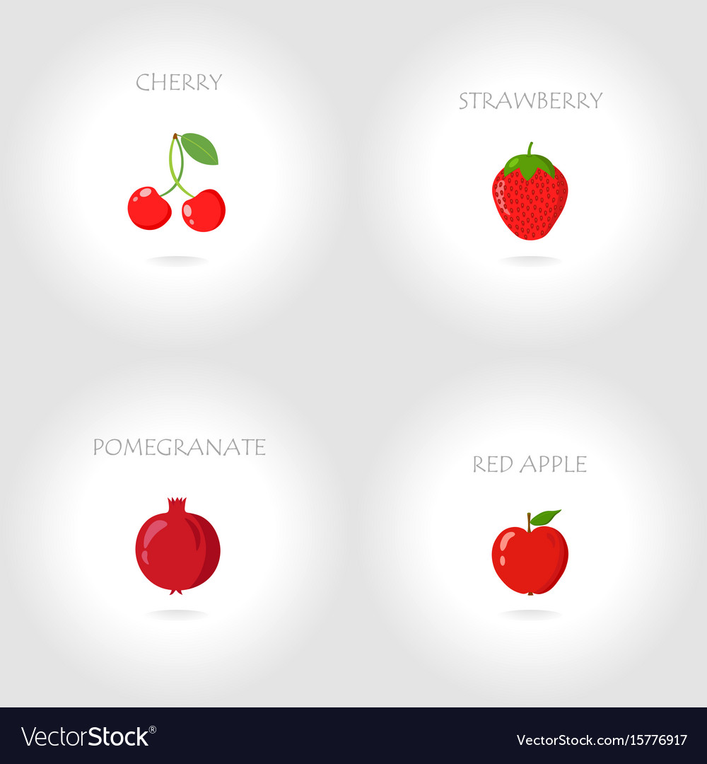 Cherry strawberry pomegranate red apple