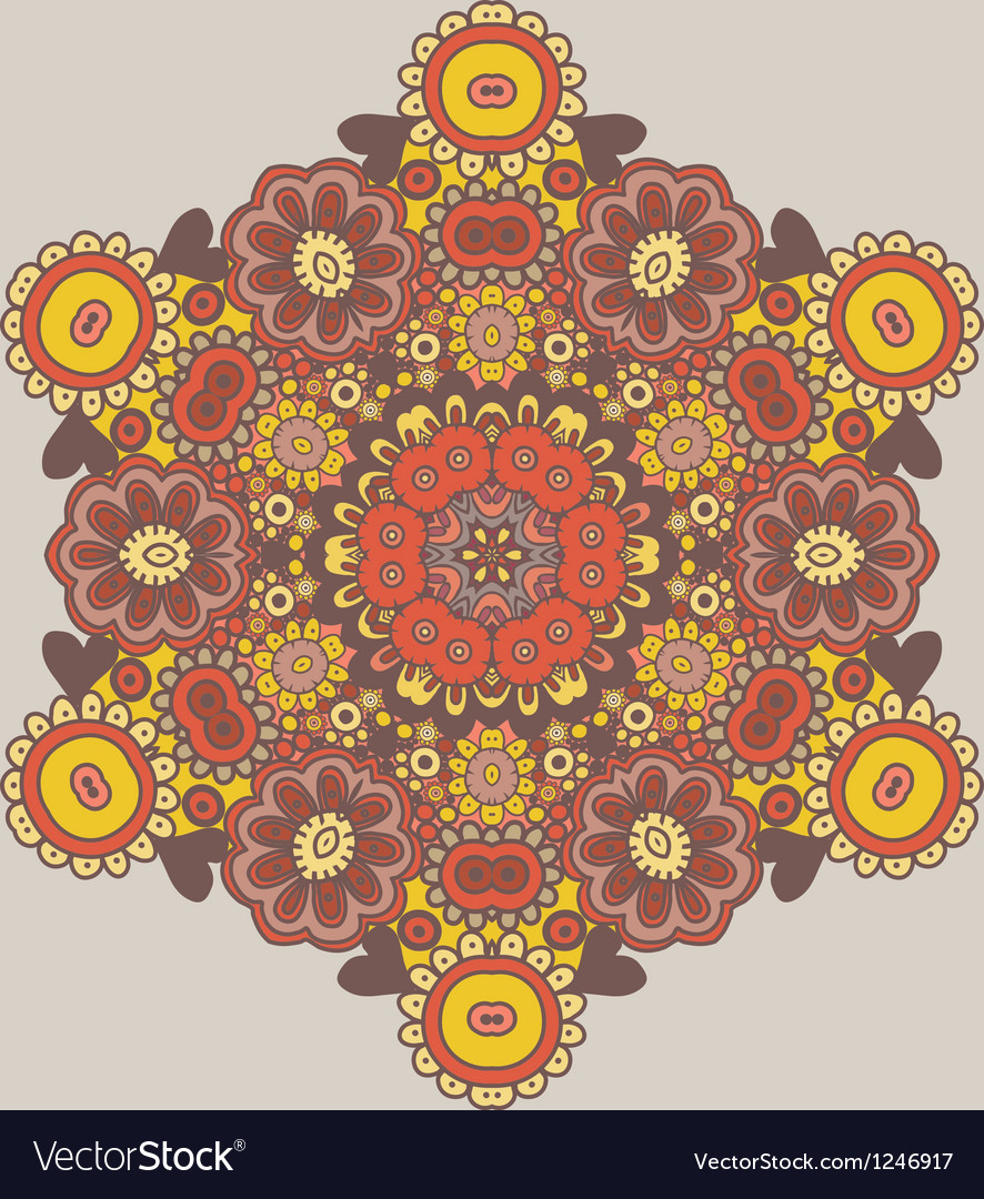 Geometric background Circle floral ornament