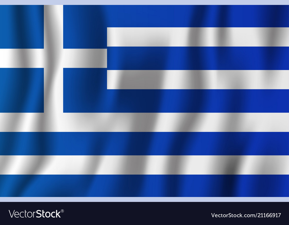 Greece realistic waving flag national country vector image