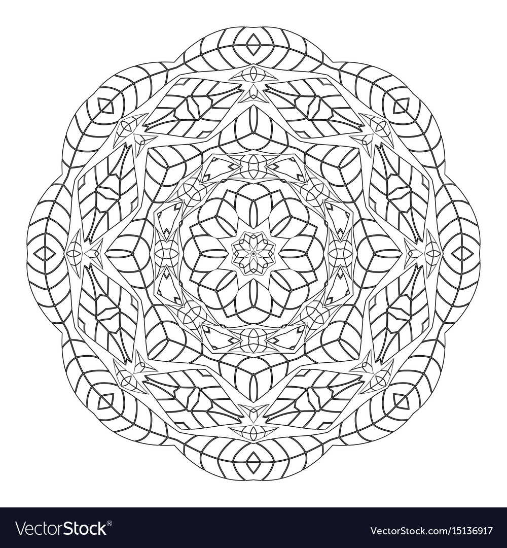 - Mandala Antistress Coloring Pages For Adults Vector Image