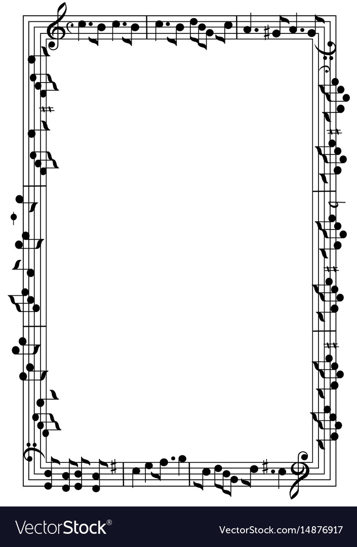 Musical Theme Frame Royalty Free Vector Image Vectorstock