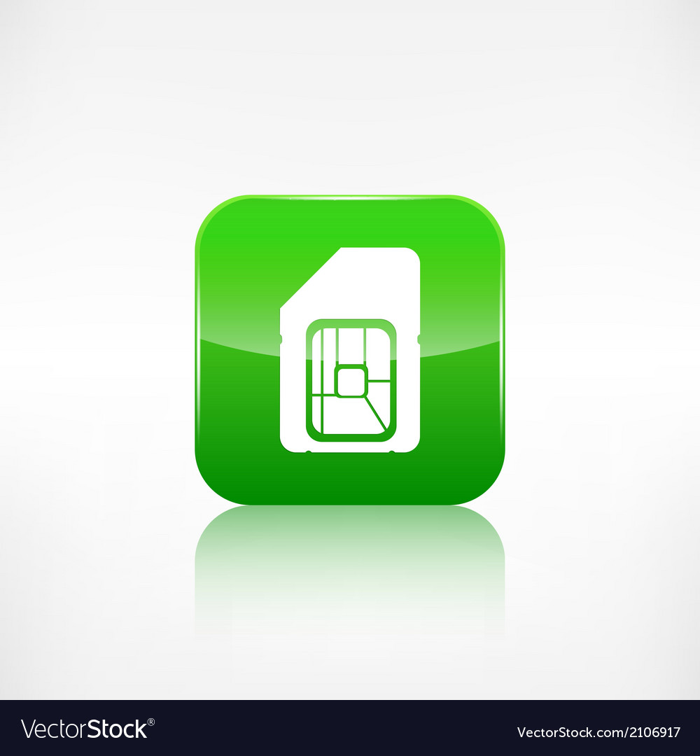 Sim card web icon Application button vector image