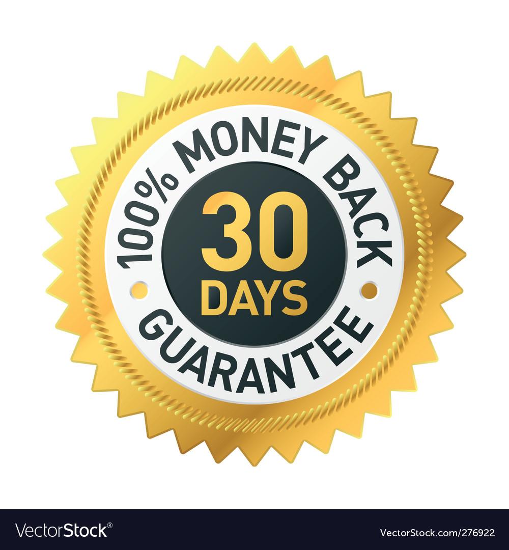 30 days Money back label