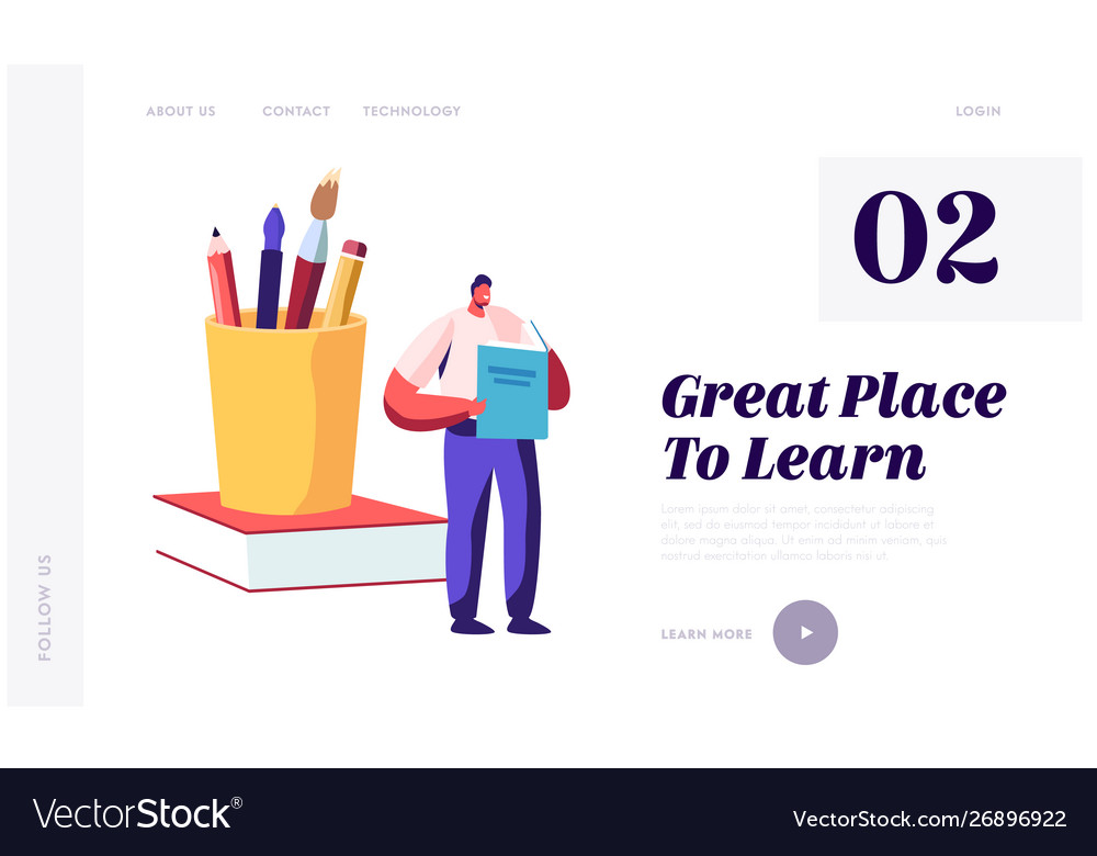Back to school knowledge website landing page