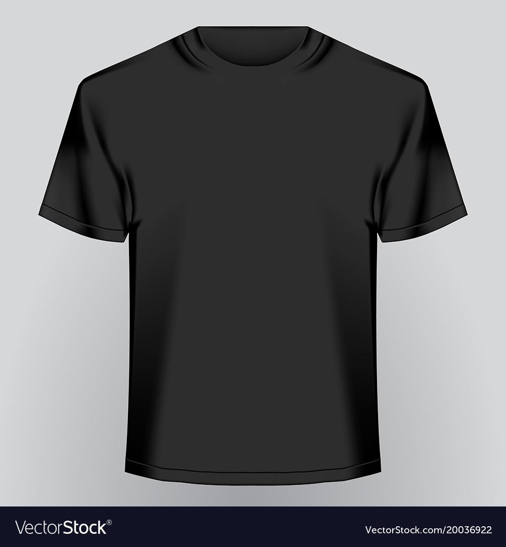 black empty t shirt royalty free vector image vectorstock rh vectorstock com black t shirt vector psd black t-shirt vector free download