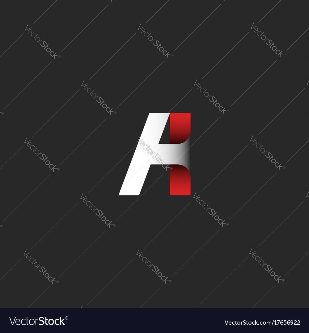 Creative letter a logo gradient color modern