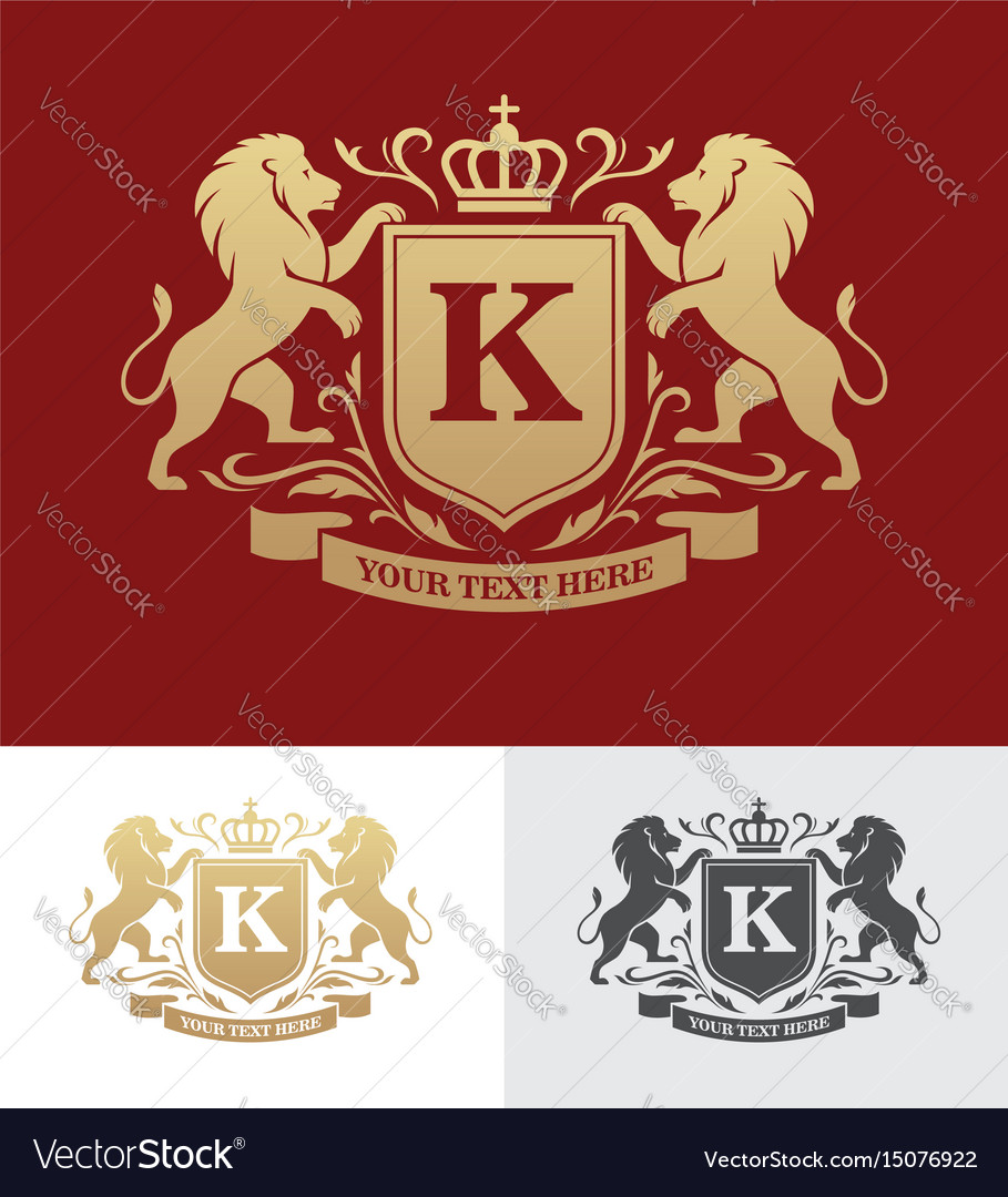 Rampant Lion In Shield Vector Images 55