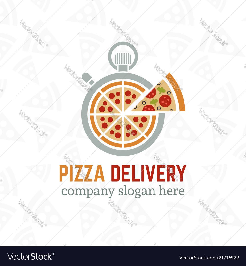 Pizza delivery company logo template