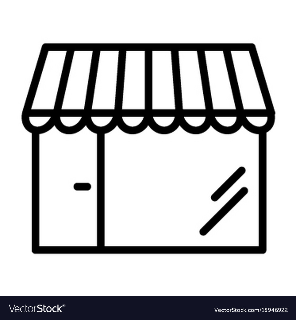 Shop pixel perfect thin line icon 48x48 store
