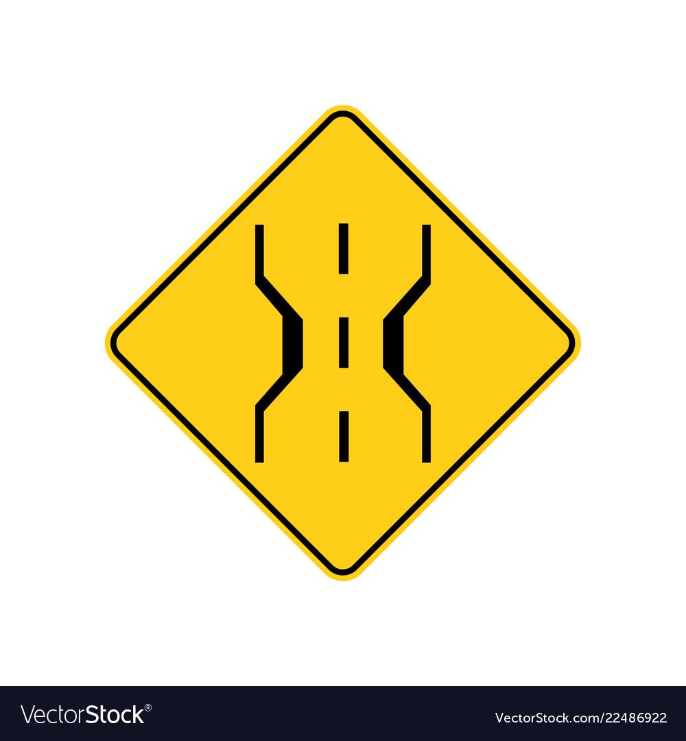 Usa traffic road signnarrow bridge warning