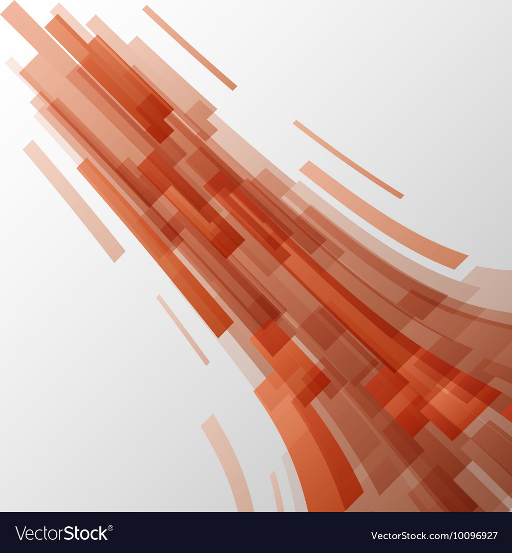 Abstract orange elements technology background vector image