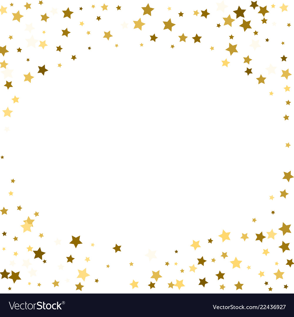 Abstract round background with gold star elements