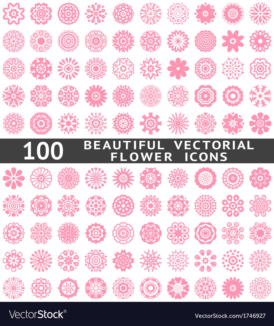 Beautiful abstract flower icons