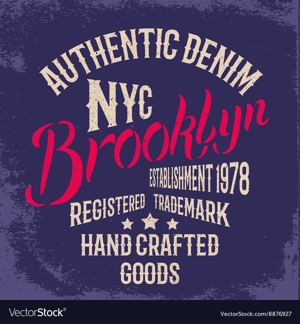 Brooklyn City print design