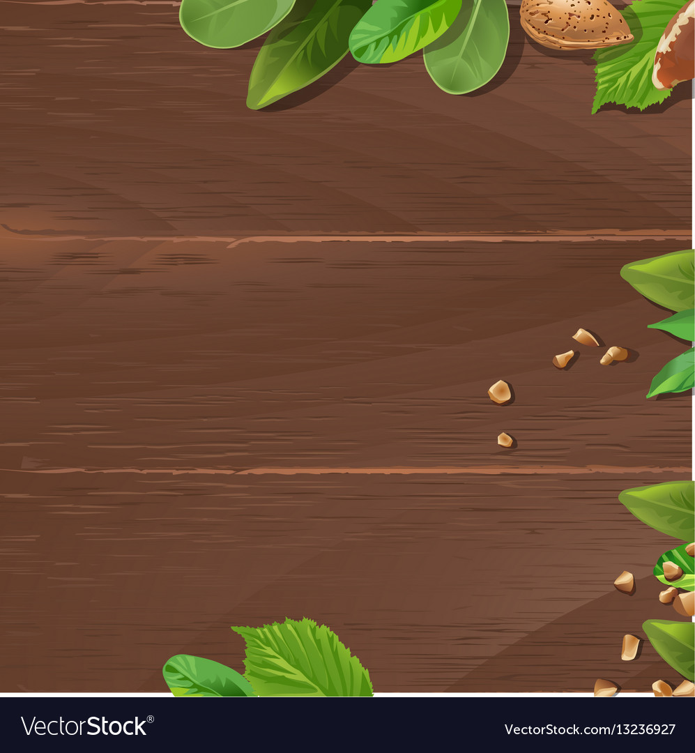 Brown background with wooden texture and ground vector image