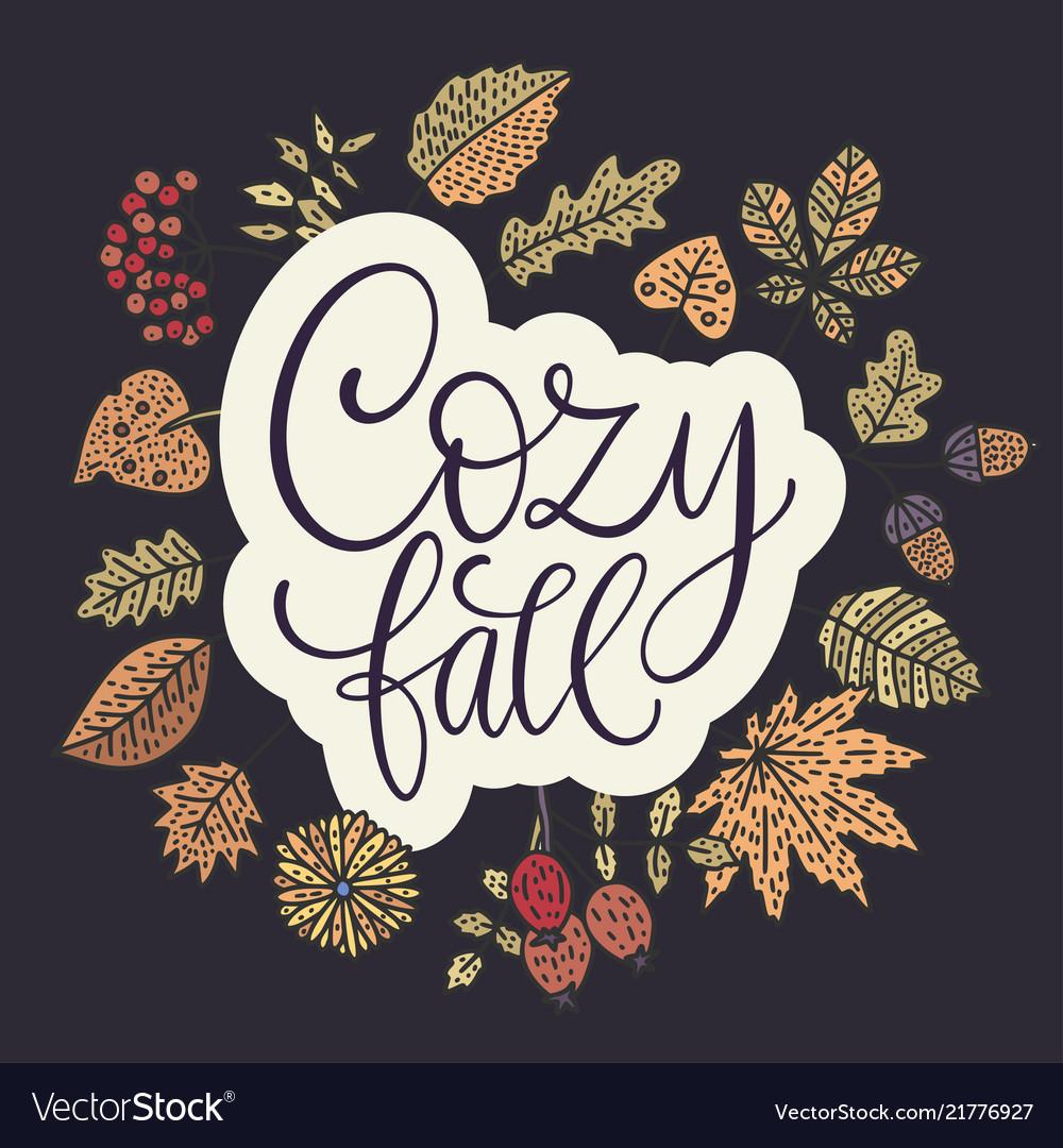 Cozy fall autumn