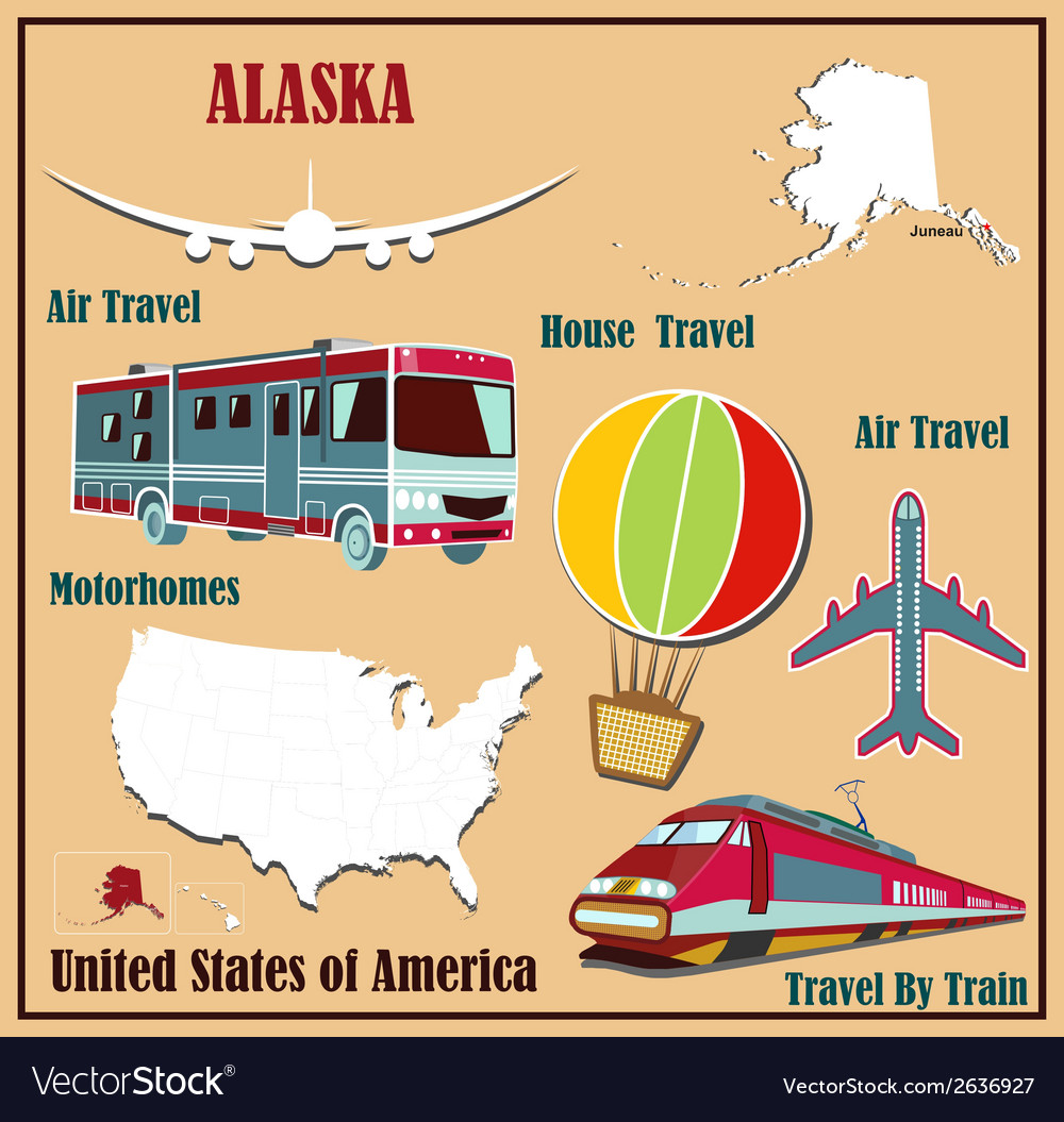Flat map of Alaska