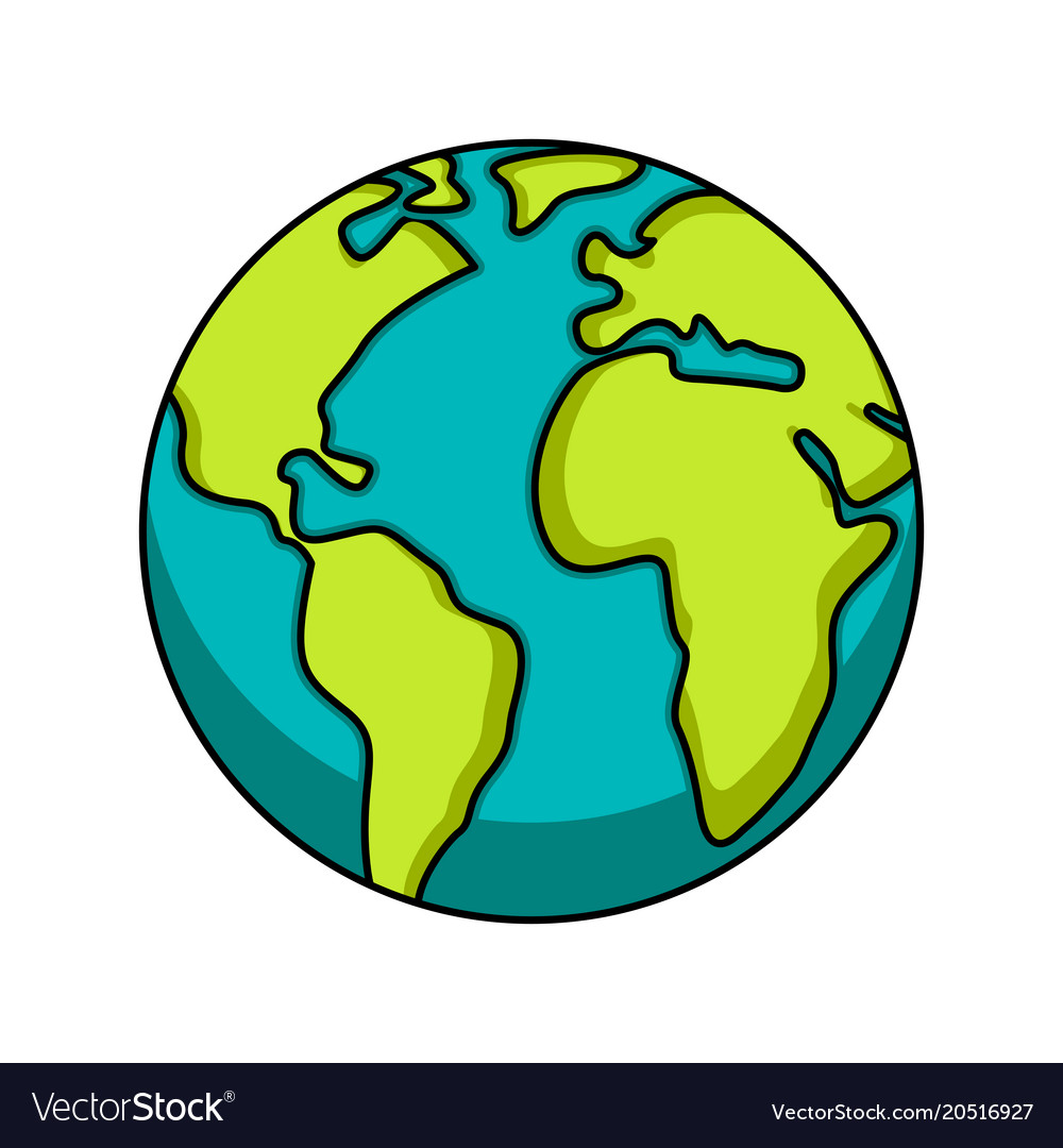 isolated earth icon image earth day royalty free vector rh vectorstock com vector earth map vector earthquake