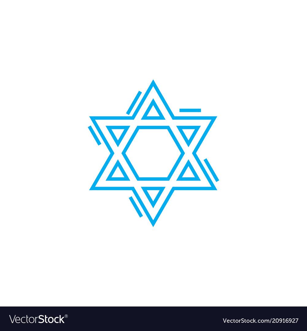 Jewish symbol linear icon concept jewish symbol
