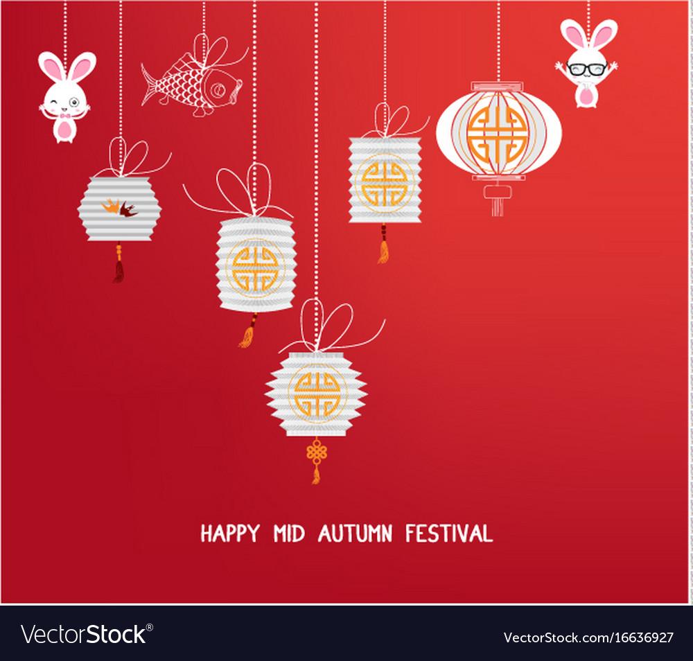 Sparkling mid autumn festival lanterns ornaments