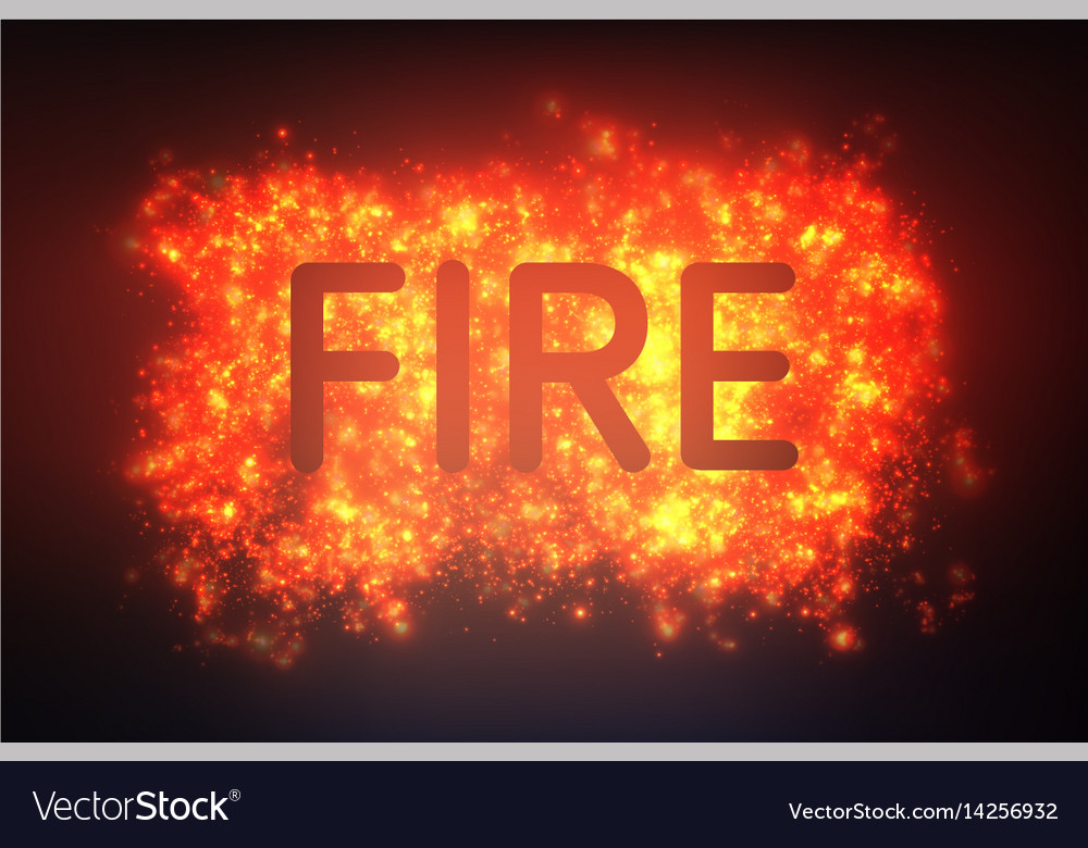 Abstract fire blast of burning vector image