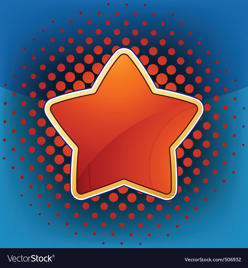 Abstract star web and print template eps 8