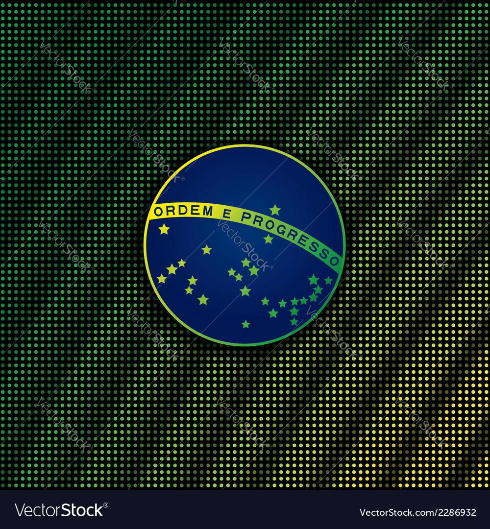 Digital background with blue disc of flag Brazil