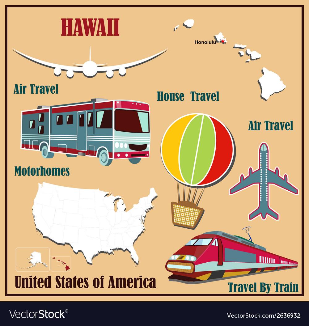 Flat map of Hawaii