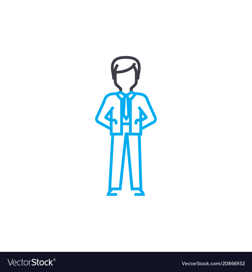 Formal clothes thin line stroke icon