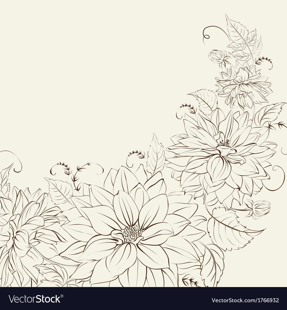 Garland of chrysanthemum isolated vector image
