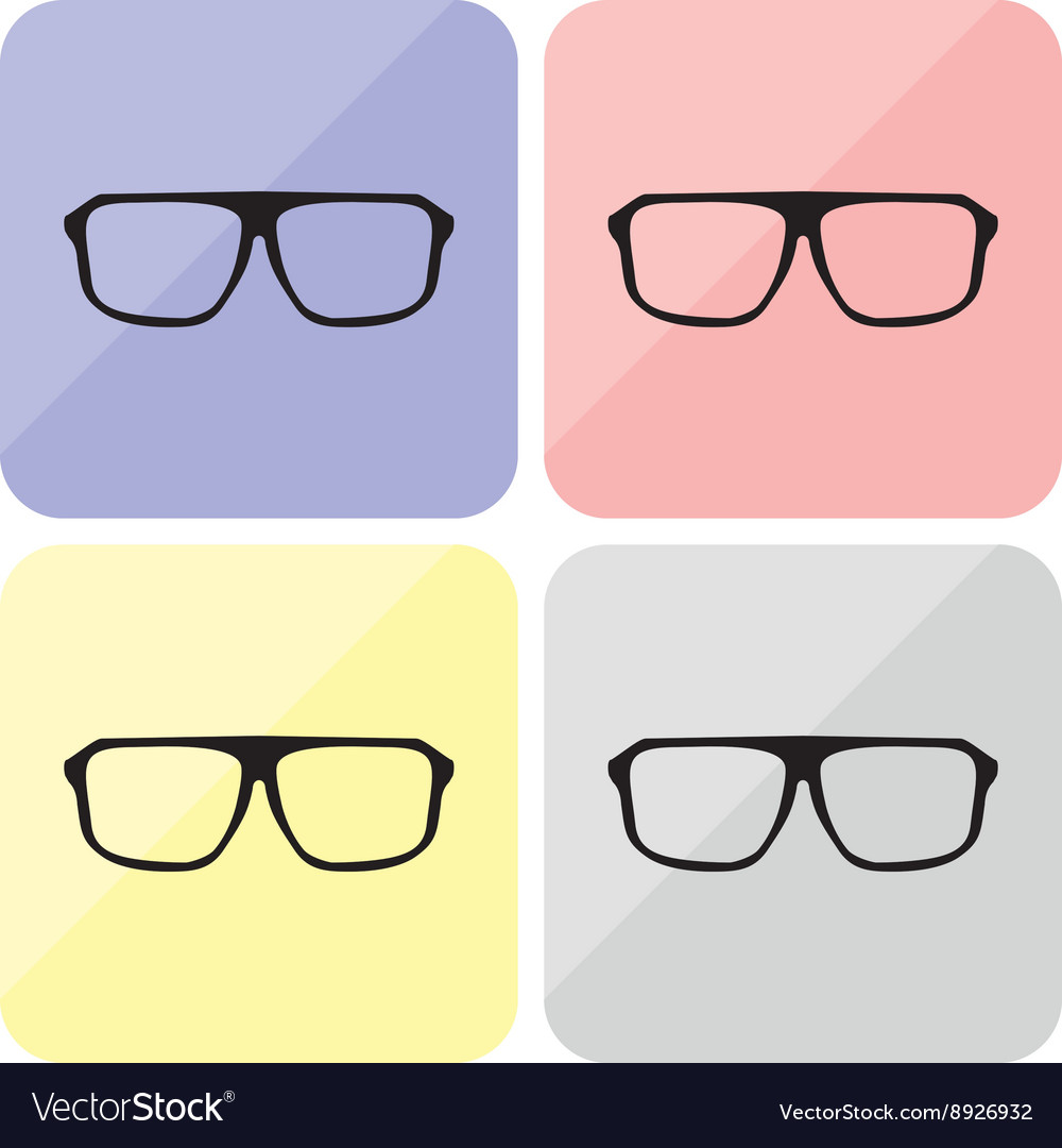 Glasses hipster set with black thick holder