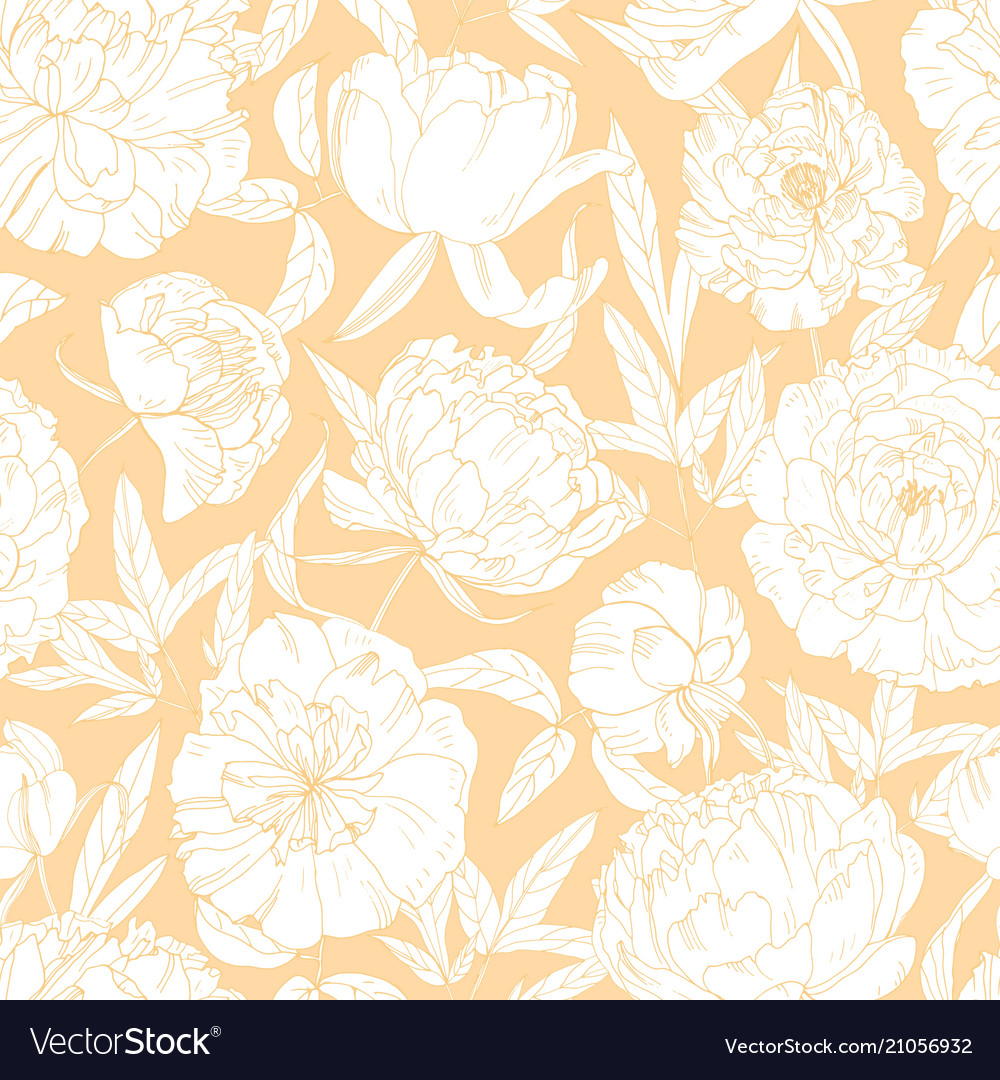 Gorgeous floral seamless pattern with blooming