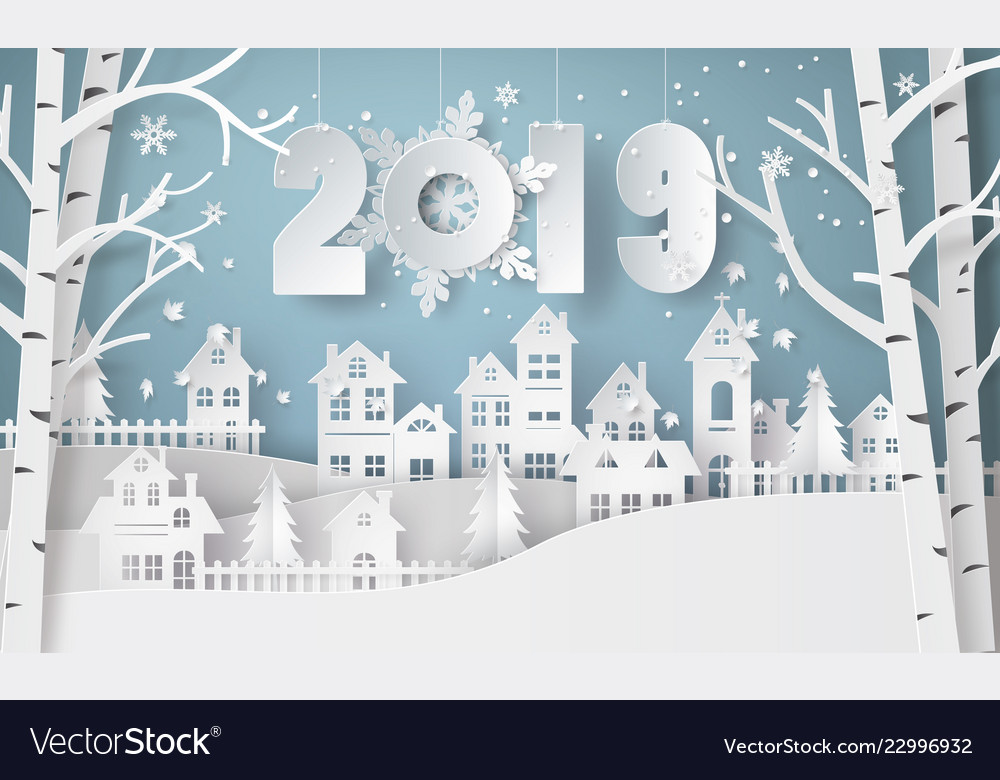 Happy new year and winter season