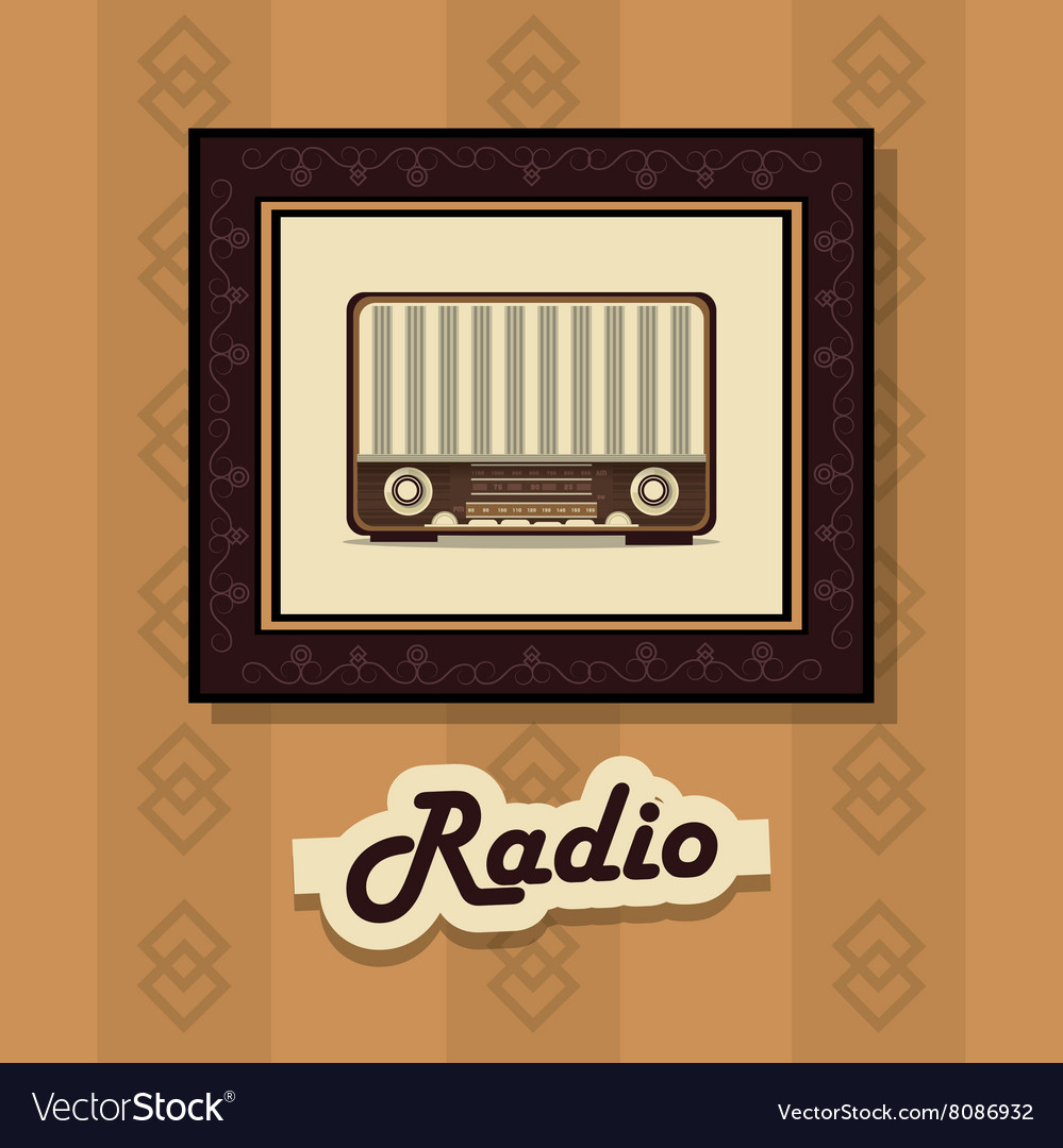 Retro radio design Royalty Free Vector Image - VectorStock