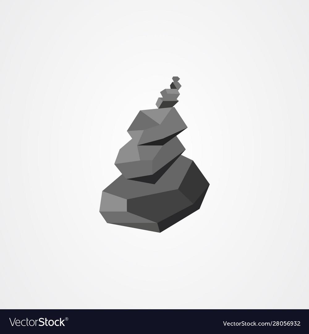Rock Balancing Relax Zen Stones Balanced Vector Image