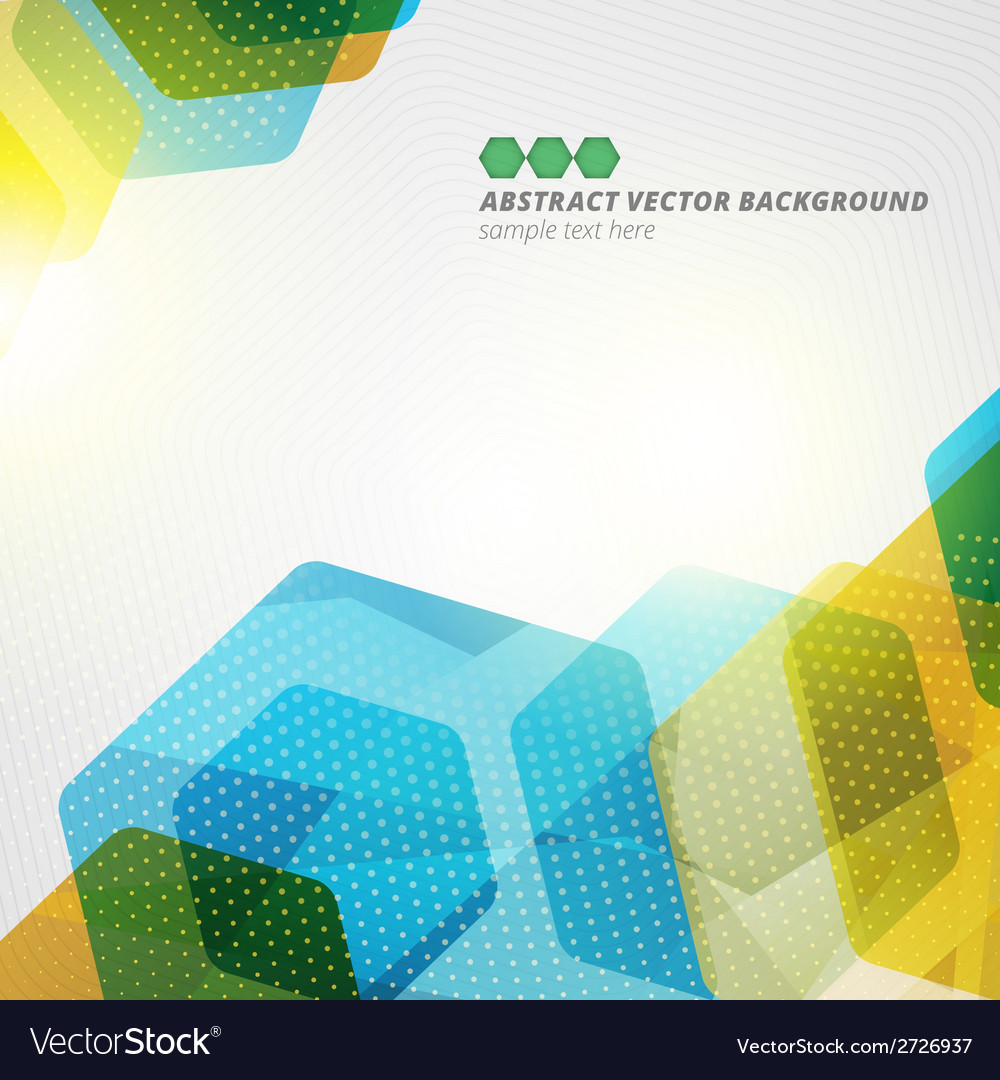 Abstract hexagon geometric color background eps10