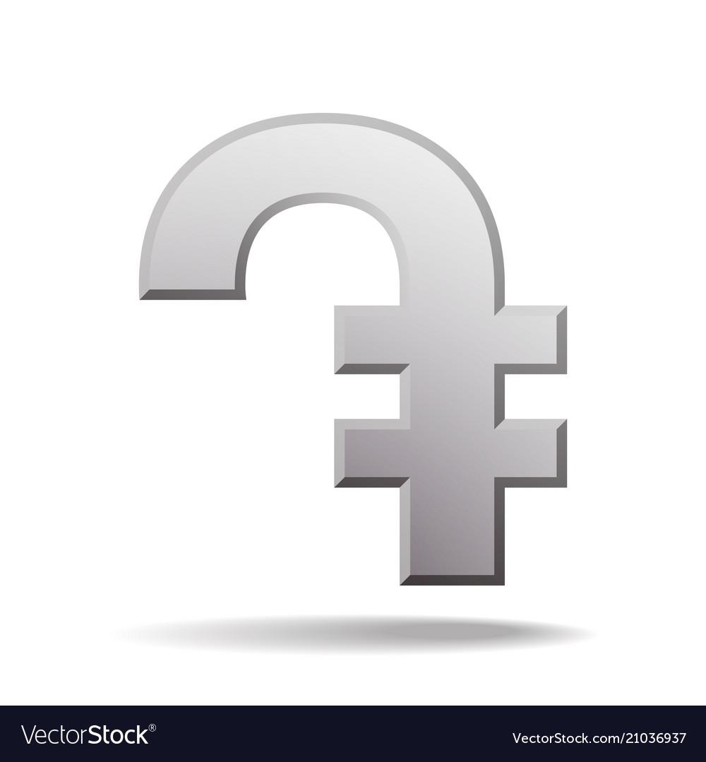 Armenian Dram Currency Symbol Royalty Free Vector Image