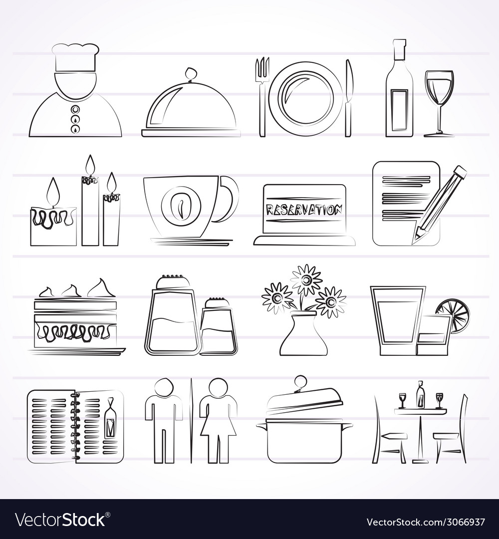 Cafe and bar icons