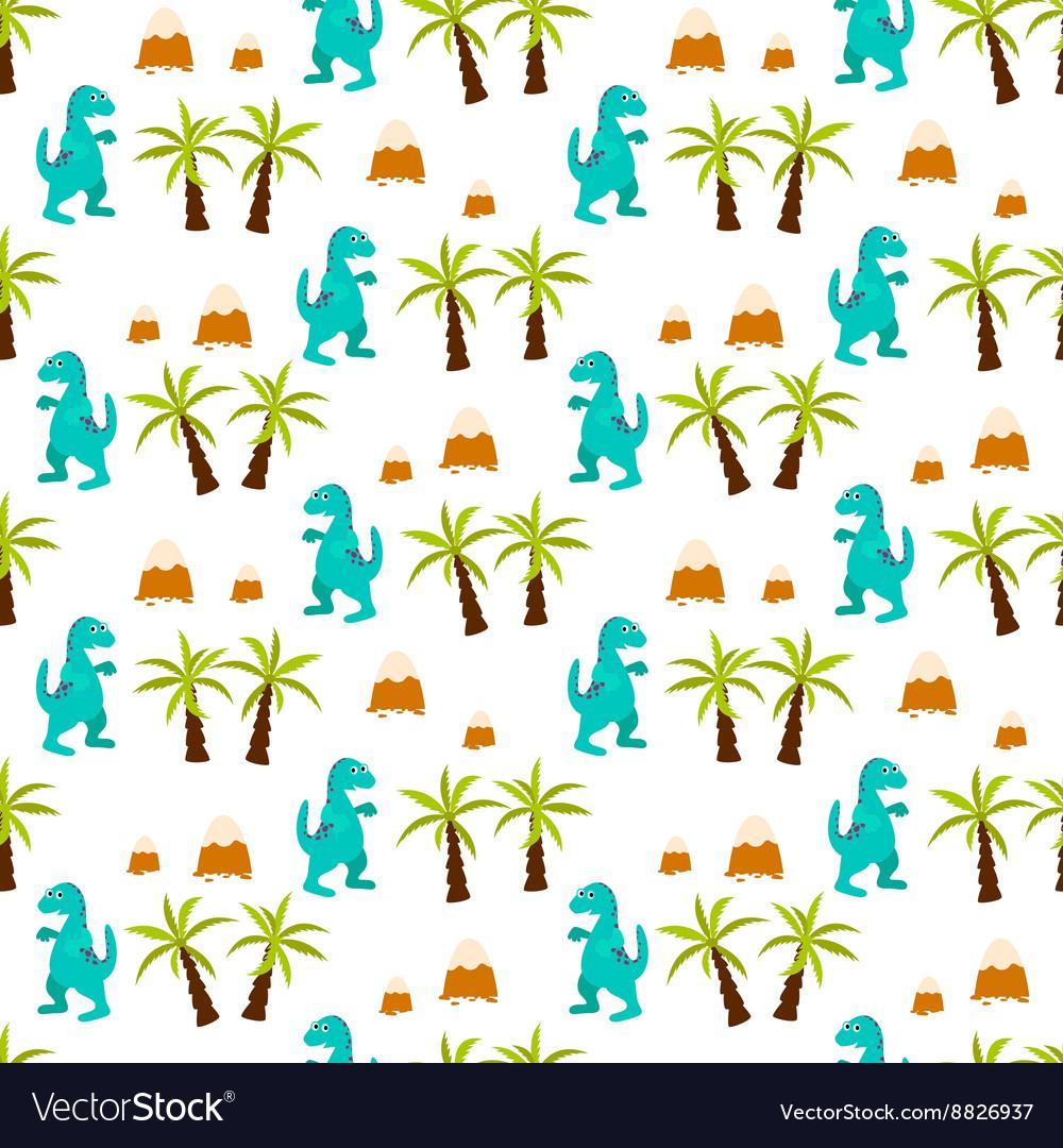 Dinosaur kid seamless pattern for textile