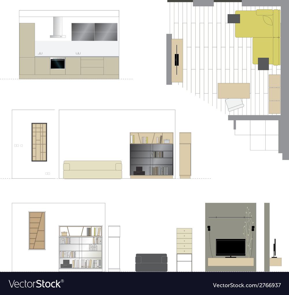 Flat projection furniture Set
