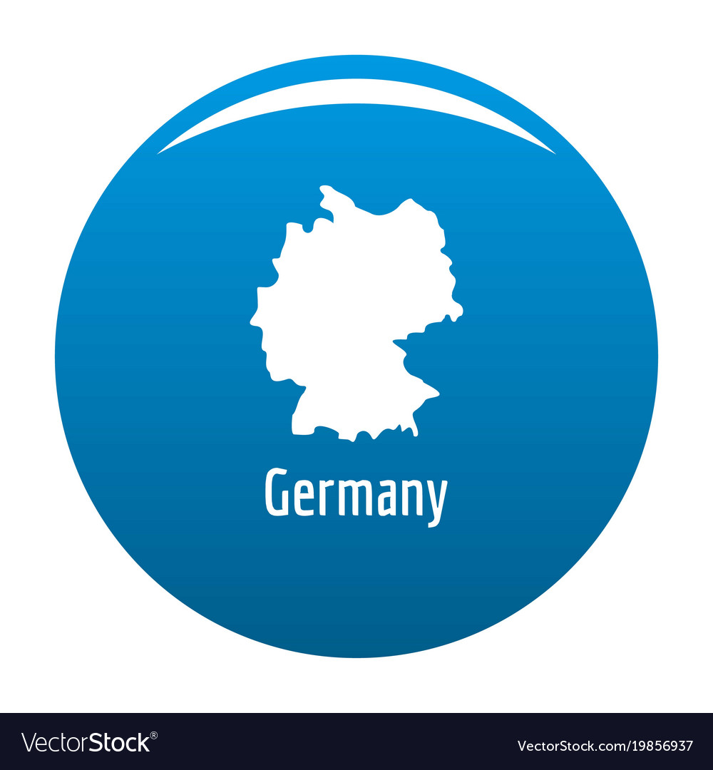 Simple Map Of Germany.Germany Map In Black Simple