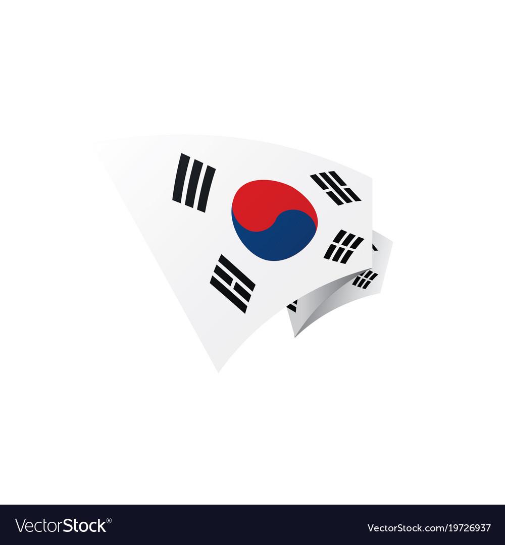 south korean flag royalty free vector image vectorstock rh vectorstock com korean flag vector free korean flag vector free
