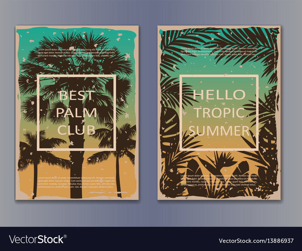 Tropic vintage posters vector image