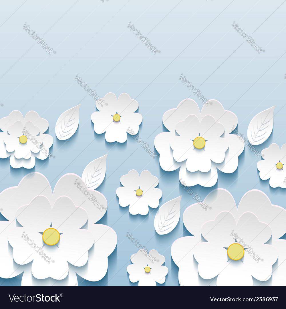 Wallpaper With 3d Flowers Sakura
