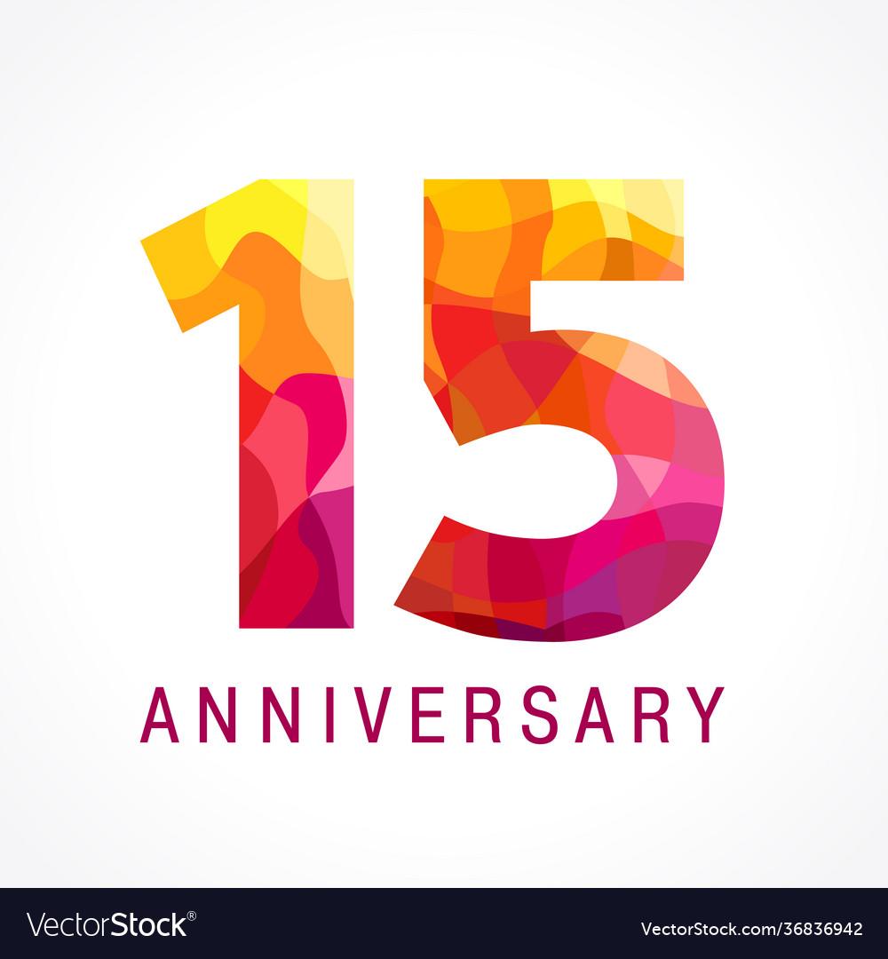 15 anniversary red logo