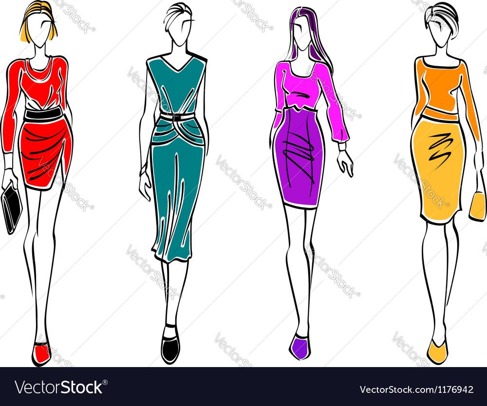 Casual fashion models