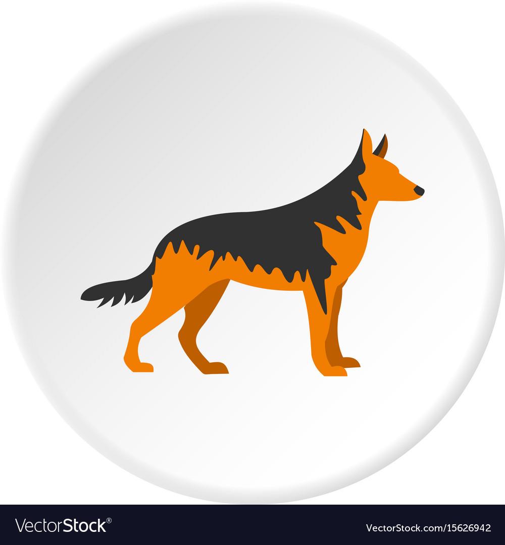 German Shepherd Dog Icon Circle Royalty Free Vector Image